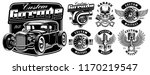 vintage black and white logos ... | Shutterstock .eps vector #1170219547