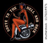 pin up girl devil on the... | Shutterstock .eps vector #1170219571