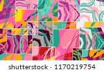 abstract collage asymmetric... | Shutterstock .eps vector #1170219754
