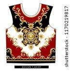 design t shirt with golden... | Shutterstock .eps vector #1170219817