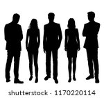 vector silhouettes men and... | Shutterstock .eps vector #1170220114