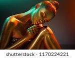 high fashion model girl in... | Shutterstock . vector #1170224221