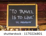 quote of h. c. andersen  to... | Shutterstock . vector #1170226801