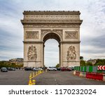 view of the arc de triomphe in... | Shutterstock . vector #1170232024
