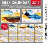 desk calendar 2019  desktop... | Shutterstock .eps vector #1170235414
