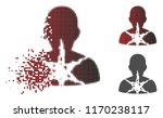 cancer damaged patient icon in... | Shutterstock .eps vector #1170238117