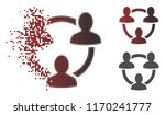 trust circle icon in dispersed  ... | Shutterstock .eps vector #1170241777