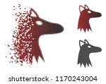 fox head icon in sparkle ... | Shutterstock .eps vector #1170243004