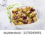 baked autumn vegetables in a... | Shutterstock . vector #1170243451