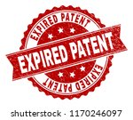 expired patent seal print with... | Shutterstock .eps vector #1170246097