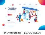 finance analysts. concept of... | Shutterstock .eps vector #1170246607