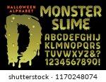 a vector halloween themed font... | Shutterstock .eps vector #1170248074