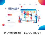 social media marketing... | Shutterstock .eps vector #1170248794