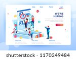 social presentation for... | Shutterstock .eps vector #1170249484