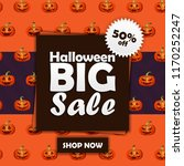 halloween vector banner for... | Shutterstock .eps vector #1170252247