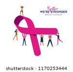 breast cancer awareness month... | Shutterstock .eps vector #1170253444