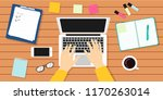 writer workplace vector... | Shutterstock .eps vector #1170263014