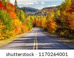 Scenic Drive through Autumn - stock photo