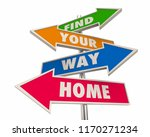find your way home back to... | Shutterstock . vector #1170271234