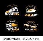 transportation  shipping logo.... | Shutterstock .eps vector #1170274141
