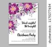 poinsettia christmas party... | Shutterstock .eps vector #1170277654