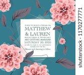 botanical wedding invitation...   Shutterstock .eps vector #1170277771