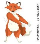 a fox dancing on white... | Shutterstock .eps vector #1170281554