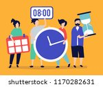 characters of people holding... | Shutterstock .eps vector #1170282631