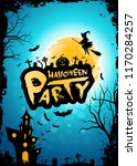 halloween party background with ... | Shutterstock .eps vector #1170284257