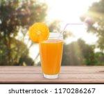 orange  on white a wooden table | Shutterstock . vector #1170286267