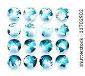 vector set of 3d earth maps | Shutterstock .eps vector #11702902