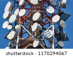 communication transmitter tower ... | Shutterstock . vector #1170294067