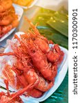 close up of many large shrimp... | Shutterstock . vector #1170300901
