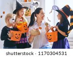 happy family celebrating... | Shutterstock . vector #1170304531