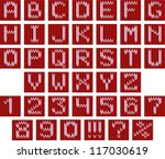 Knitted Typeset. Seamless Both...