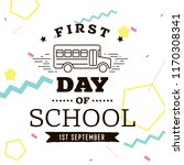 back to school. isolated vector ... | Shutterstock .eps vector #1170308341