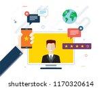 evaluation of online support ... | Shutterstock .eps vector #1170320614