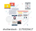 tablet with performance... | Shutterstock .eps vector #1170320617