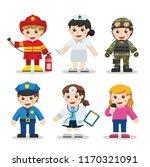 kid set of different... | Shutterstock .eps vector #1170321091