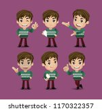 men with different poses | Shutterstock .eps vector #1170322357