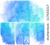 set of colorful abstract blue... | Shutterstock . vector #117033217