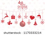 christmas background with... | Shutterstock .eps vector #1170333214