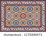 colorful mosaic oriental kilim... | Shutterstock .eps vector #1170340471