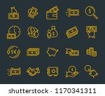 set of money line icons  such... | Shutterstock .eps vector #1170341311