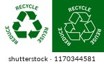 reduce reuse recycle concept... | Shutterstock .eps vector #1170344581