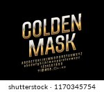 vector reflective golden mask... | Shutterstock .eps vector #1170345754