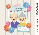 happy grandparent's day. photo...   Shutterstock .eps vector #1170347464