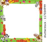 Cartoon Farm Frame   ...