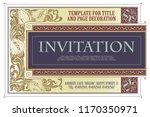 vector template flyer ... | Shutterstock .eps vector #1170350971
