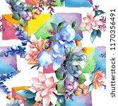 watercolor colorful bouquet...   Shutterstock . vector #1170356491